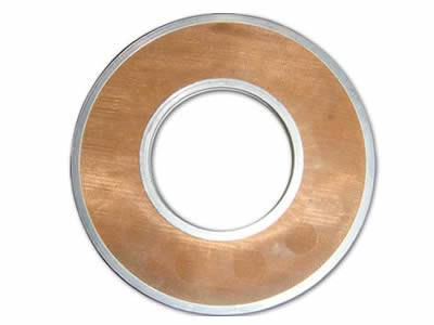 Copper ring shaped perforated filter disc is made of copper wire mesh and perforated metal ring.