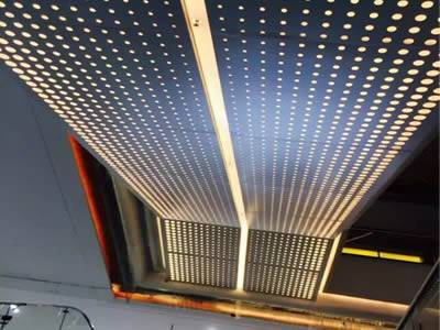 Perforated Metal Ceiling For Offices Galleries And Libraries
