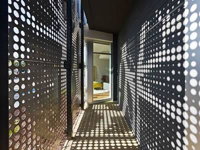 Perforated Metal Facade For Decoration And Protection Of