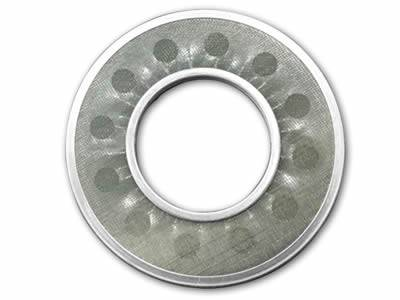 The perforated ring shaped filter disc is made of stainless steel wire mesh and perforated metal ring.